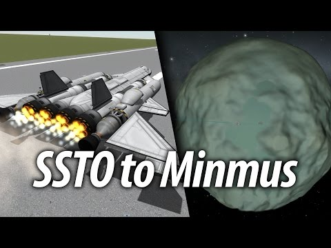 SSTO Guide to Minmus (Beginner Tutorial: 16) Kerbal Space Program (KSP) 1.1 Stock Career