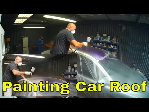 Time Lapse of Car Roof Painting Ford Mondeo MK3 Project ST220