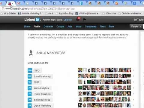 Linkedin Endorsement Tip internet marketing coach