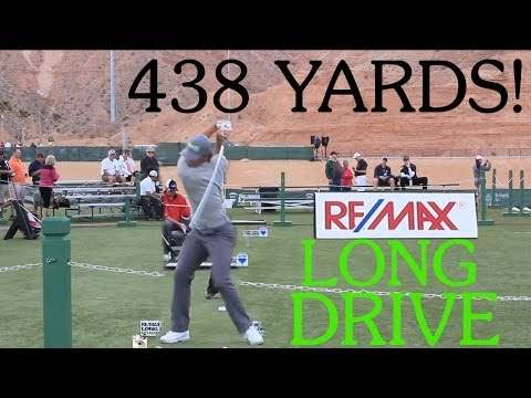 Long Drive Competition 438 yards! Gain Distance! Part 1