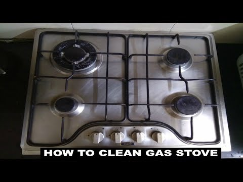 How to Clean Gas stove top and burners.
