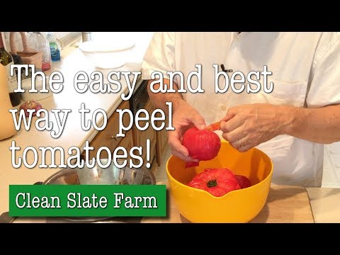 Easy, fast way to peel tomatoes