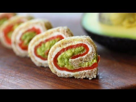 Smoked salmon avocado rolls recipe