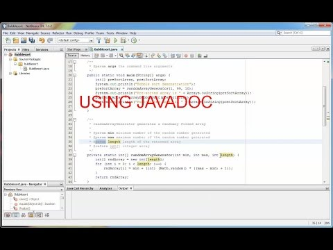 Using JavaDoc in NetBeans with Java