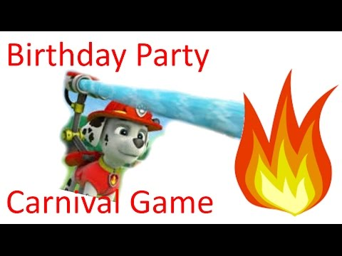 How to: PAW Patrol Birthday Party Carnival Game -Bean Bag Fire Targets