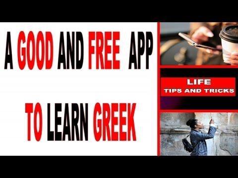 LEARNING GREEK for free: a great app to learn Greek   Best Apps to Learn Greek
