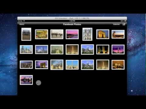 Download photos from Facebook to iPad