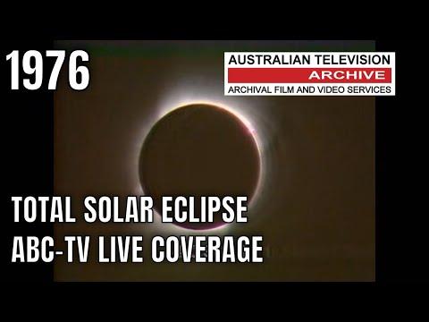 Total Eclipse Victoria Australia - Late 70's ABC TV Coverage