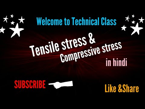 Tensile stress & compressive stress | hindi by Technical Classes