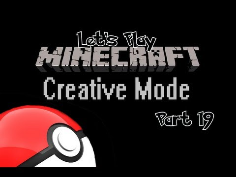 Let's Play Minecraft for Xbox 360! (Creative Mode) Part 19 - Building a 3D Pokeball!