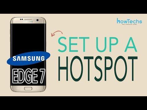 Samsung Galaxy Edge 7 - How to set up a Wifi Hotspot