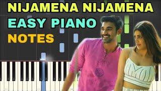Nijamena Nijamena Piano Notes | Sita | Bellamkonda Sai Sreenivas, Kajal Aggarwal | Anup Rubens