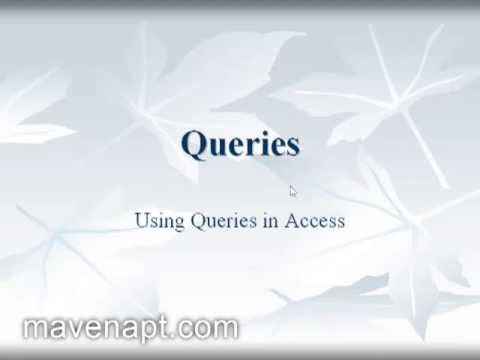 7. Ms Access 2003 Tutorials in Urdu - Database Queries Urdu Tutorials