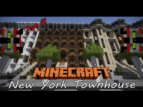 Minecraft Lets Build | New York Townhouse: Part 1
