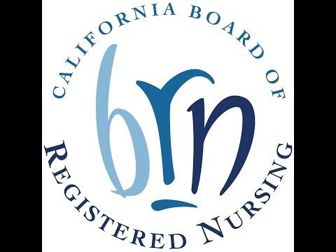 Board of Registered Nursing Meeting -- January 10, 2017
