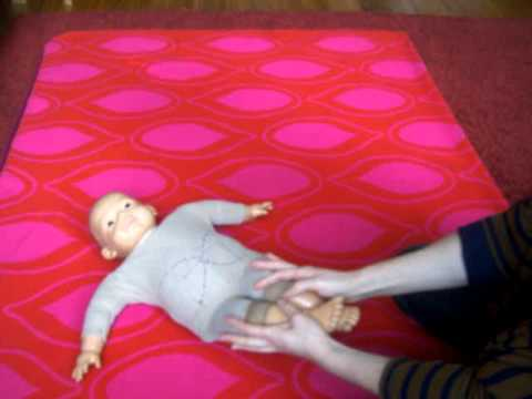 Baby Massage - Wind, Colic, Hamstring Stretch, baby lotus
