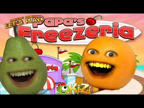 Annoying Orange & Pear - Papa's FREEZERIA