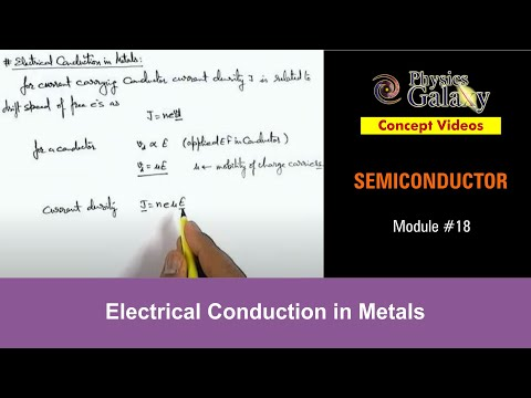 18. Physics | Semiconductor & its Types | Electrical Conduction in Metals | by Ashish Arora