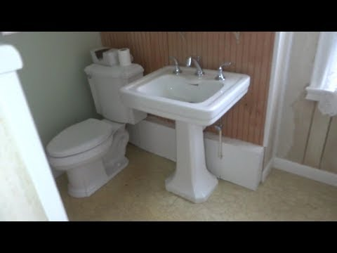 pedestal sink drain backing up , snake drain