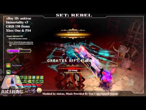 Ps4 Diablo 3 Mods Xbox One - Immortality V3 REBEL GRIFT 150  - http://www.akirac.com