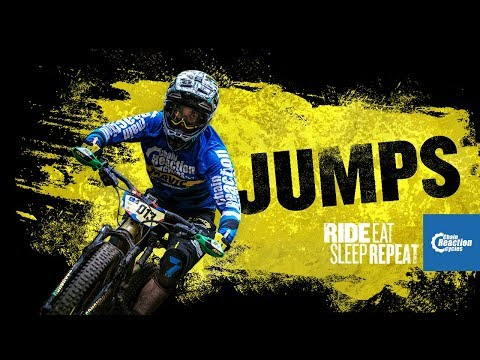How does Sam Hill take on a jump?