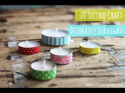 20sec crafts: how to decorate tealights