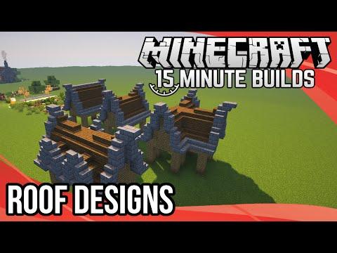 Minecraft 15-Minute Builds: Roof Designs