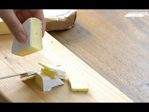 ASMR | Brie & Camembert Cheese Cutting Sound