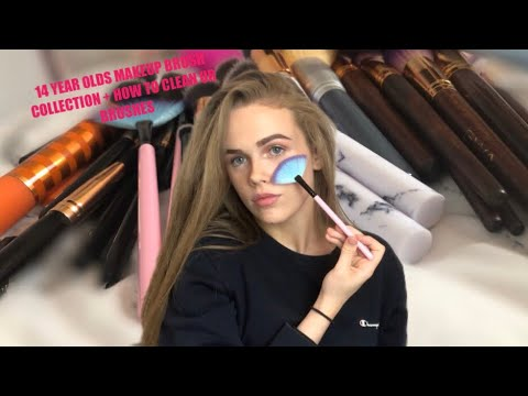 14 YEAR OLDS MAKEUP BRUSH COLLECTION + HOW TO CLEAN UR BRUSHES