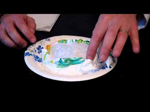 How to make Tye-Dye Paper with Food Coloring and Shaving Cream