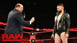 paul heyman places finn blor above the rest for extreme rules fatal 5way raw may 22 2017