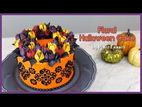 Floral Halloween Cake | Renee Conner