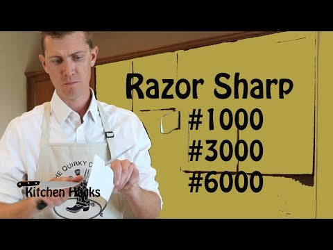 How to Sharpen a Chef's Knife on a Whetstone... 3 Easy Steps - Kitchen Hacks