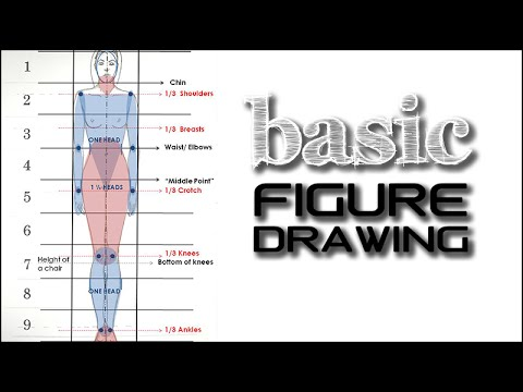 Basic Standing Figure Tutorial: Fashion Design Drawing for beginners