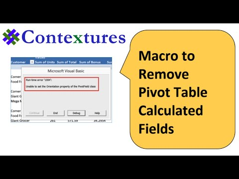 Macro to Remove Pivot Table Calculated Field