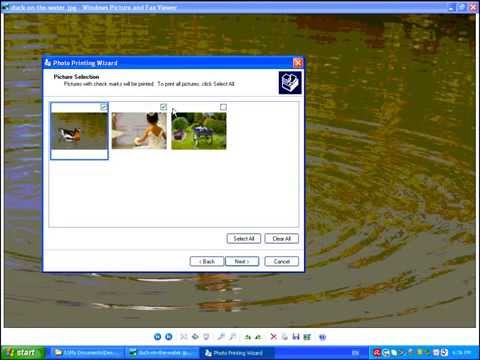Printing Photos with Windows Picture and Fax Viewer - 4x6, 8x10, 5x7, Etc.