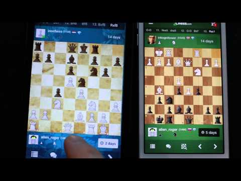 Chess.com android app vs iOS swipe gestures