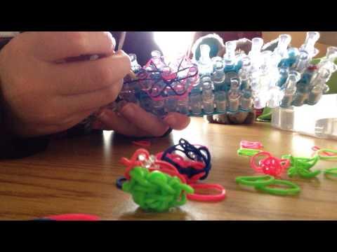 Rainbow Loom - how to make a diamond ring