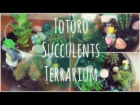 Totoro Succulents Terrarium - NerDIY