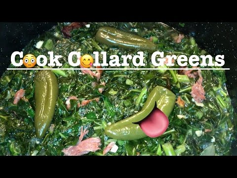 😋How to Cook Collard Greens Recipe with Smoked Ham, Bacon or Turkey | SoulFood Cooking Instructions