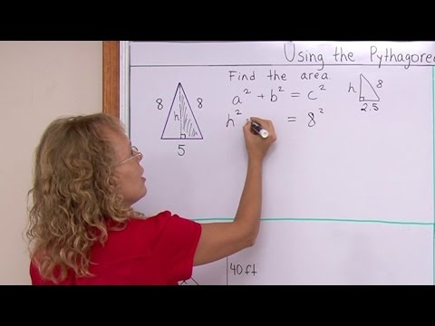 The Pythagorean Theorem and Geometry 1: Area of an Isosceles Triangle