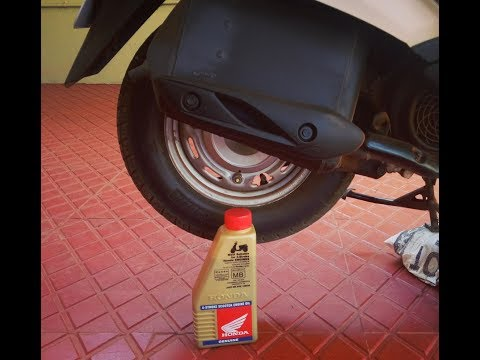 How to Change the Engine Oil Of  Activa 3G