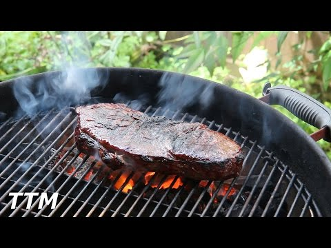 Grilled Top Sirloin Steak on the Weber Kettle