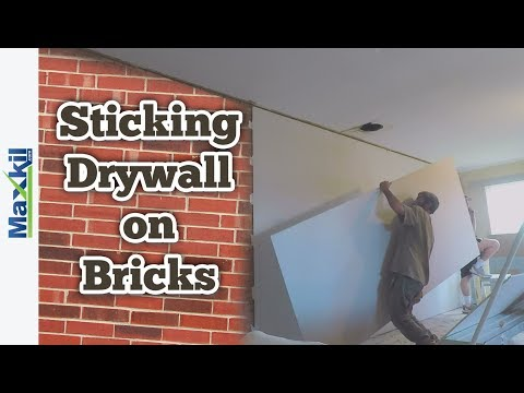 Fixing Drywall Vertically onto Brick and Blockwork