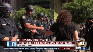 Protesters take to downtown San Diego streets