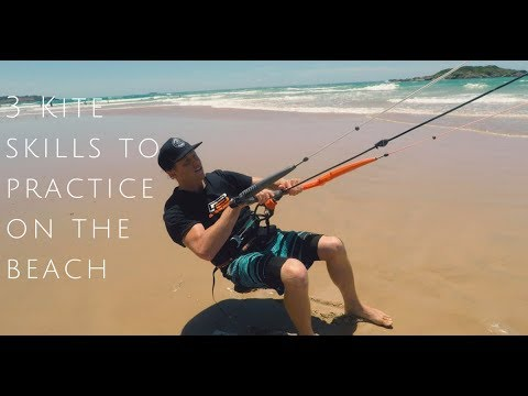 3 Kitesurfing Skills to Practice on the Beach (Beginner lesson)