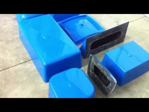 Dura-Blu fiberglass sink molds for concrete