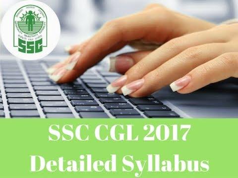 SSC CGL Tier1 Tier2 , Tier3, Tier4  Syllabus 2017