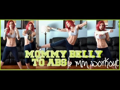 MOMMY BELLY TO ABS 6 MIN WORKOUT