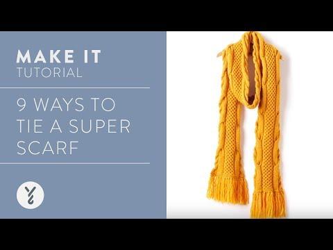 9 Ways to Tie a Super Scarf